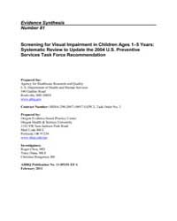 Screening for Visual Impairment in Child... by Agency for Healthcare Research and Quality