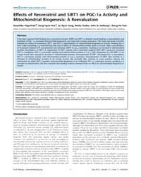 Plos Biology : Effects of Resveratrol an... by Vidal-puig, Antonio J.