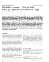 Plos Computational Biology : Flux Balanc... by Segre, Daniel