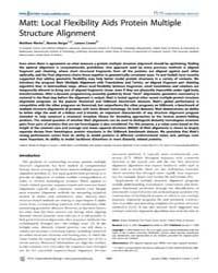 Plos Computational Biology : Matt ; Loca... by Dunbrack, Roland