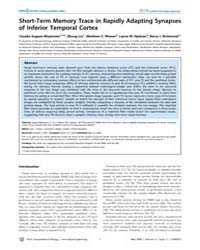 Plos Computational Biology : Short-term ... by Friston, Karl, J.