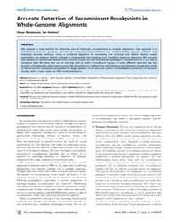 Plos Computational Biology : Accurate De... by Regev, Aviv