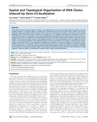 Plos Computational Biology : Spatial and... by Junier, Ivan