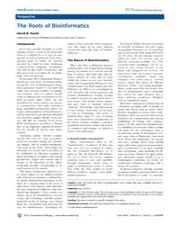 Plos Computational Biology : the Roots o... by Searls David B.