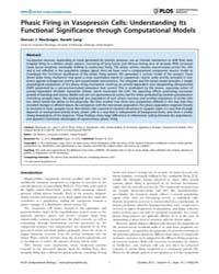 Plos Computational Biology : Phasic Firi... by MacGregor, Duncan J.