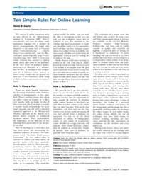 Plos Computational Biology : Ten Simple ... by Searls, David B.