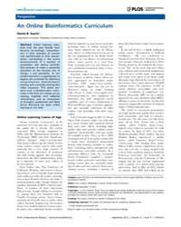 Plos Computational Biology : an Online B... by Searls, David B.