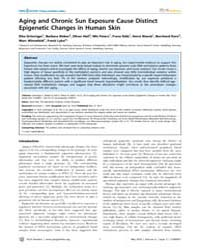 Plos Genetics : Aging and Chronic Sun Ex... by Reik, Wolf