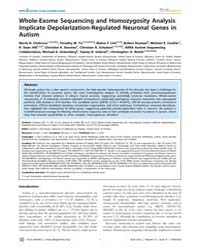 Plos Genetics : Whole-exome Sequencing a... by Geschwind, Daniel H.