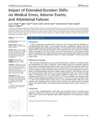 Plos Medicine : Impact of Extended-durat... by Barger, Laura, K.