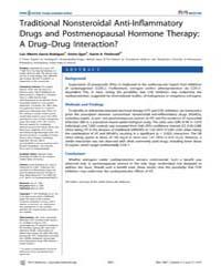 Plos Medicine : Traditional Nonsteroidal... by Garcıa Rodrıguez, Luis Alberto