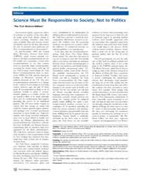 Plos Medicine : Science Must Be Responsi... by Public Library of Science (Plos)