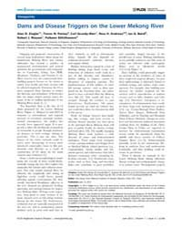 Plos Neglected Tropical Diseases : Dams ... by Zhou, Xiao-nong