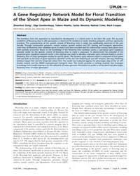 Plos One : a Gene Regulatory Network Mod... by Harmon, Frank, G.