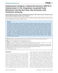Plos One : Subdominant Antigens in Bacte... by Munderloh, Ulrike, Gertrud