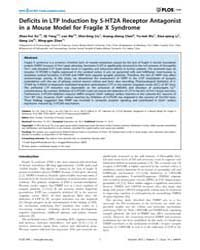 Plos One : Deficits in Ltp Induction by ... by Christie, Brian