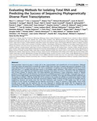 Plos One : Evaluating Methods for Isolat... by Quince, Christopher