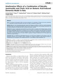 Plos One : Ameliorative Effects of a Com... by Forloni, Gianluigi