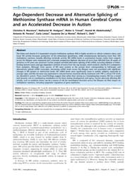 Plos One : Age-dependent Decrease and Al... by Phillips, William