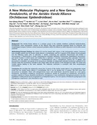 Plos One : a New Molecular Phylogeny and... by Keith, A. Crandall