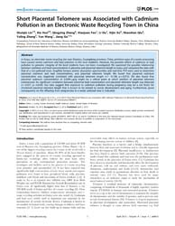 Plos One : Short Placental Telomere Was ... by Lustig, J. Arthur