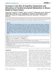 Plos One : Increases in the Risk of Cogn... by Yan, Riqiang