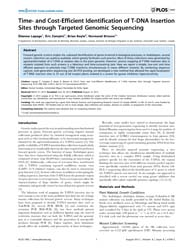 Plos One : Time- and Cost-efficient Iden... by Candela, Hector