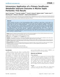 Plos One : Intravenous Application of a ... by Caldwell, Charles C.