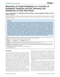 Plos One : Bioactivity of Fungal Endophy... by Stajich, Jason E.