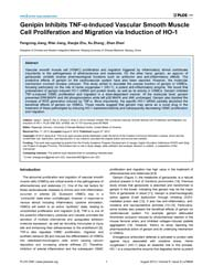 Plos One : Genipin Inhibits Tnf-α-induce... by Johnson, Rajasingh