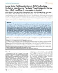 Plos Pathogens : Large-scale Field Appli... by Hunter, Wayne