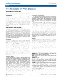 Plos Pathogens : Five Questions on Prion... by True-krob, Heather