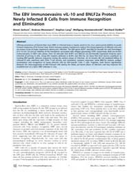 Plos Pathogens : the Ebv Immunoevasins V... by Stevenson, Philip G.