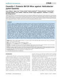 Plos Pathogens : Caveolin-1 Protects B61... by Steven R. Blanke