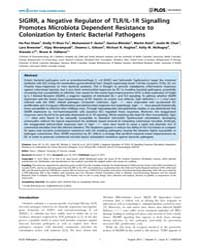 Plos Pathogens : Sigirr, a Negative Regu... by Philpott Dana J.