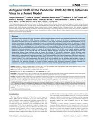 Plos Pathogens : Antigenic Drift of the ... by Subbarao, Kanta