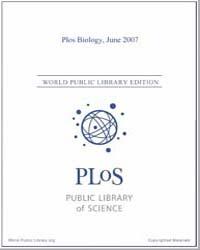 Plos : Biology, June 2007 by Bloom, Theodora