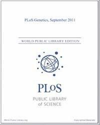 Plos : Genetics, Septemer 2011 Volume 7 by Barsh, Gregory, S.