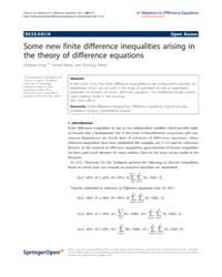 Advances in Difference Equations : July ... by Agarwal, Ravi P.