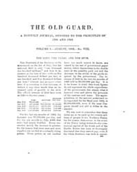The Old Guard : Volume 0001, Issue 8 Aug... by C. Chauncey Burr and Co