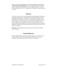 Changes in Nutritional Quality of Food P... Volume Number 1880 by Mojduszka, Eliza M.