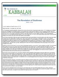 The Revelation of Godliness by Ashlag, Yehuda, Rabbi
