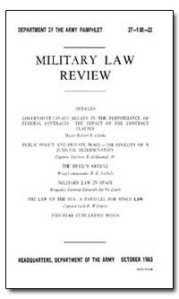Government Caused Delays in the Performa... by Clark, Robert B., Major