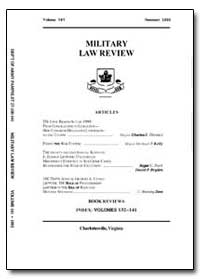 Military Law Review-Volume 141 by Risch, Stuart W., Captain