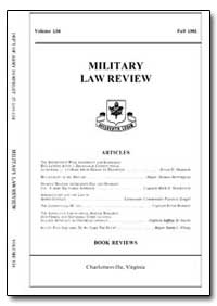 Military Law Review-Volume 134 by Shaver, Daniel P., Major