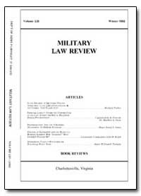 Military Law Review-Volume 135 by Shaver, Daniel P., Major