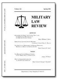 Military Law Renew-Volume 152 by Jones, John B. Jr., Captain