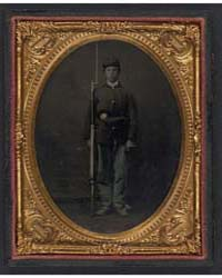 Unidentified Young Soldier in Union Sack... by Library of Congress