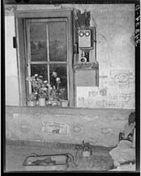 Telephone by Window in Farm Home of Fsa ... by Library of Congress