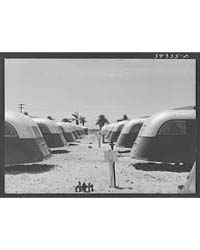 Line-up of Trailers at the Fsa (Farm Sec... by Library of Congress